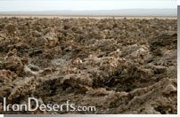 کویر طبقه - دریاچه نمک خور