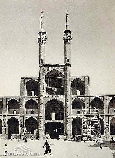مسجد جامع نو در هنگام ساخت – یزد