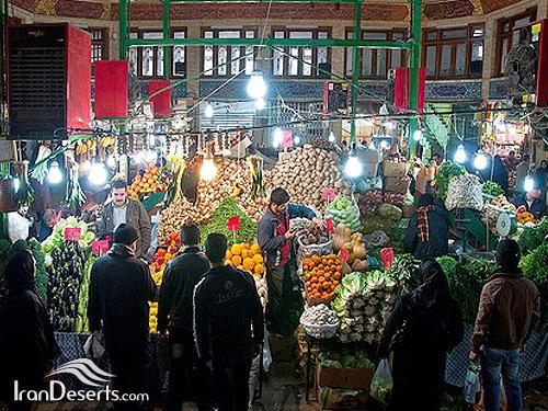 تکیه و مرکز فروش میوه و تره بار – بازار تجریش