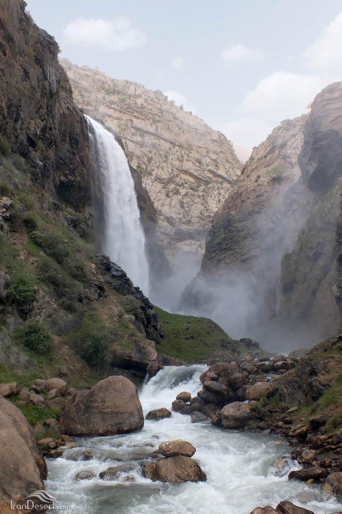 آبشار کرودی کن (آبشار دودی)، لردگان، عکس از آرش ایزدی فر