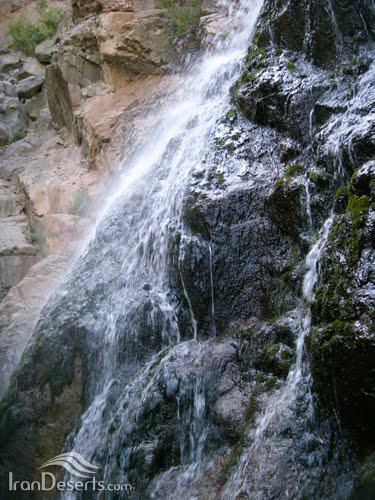 آبشار اول خوشکار، بافت
